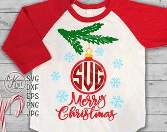 Christmas monogram svg, Christmas ornament monogram svg, Christmas ball monogram svg, Christmas Ball Svg , Merry Christmas svg monogram, dxf