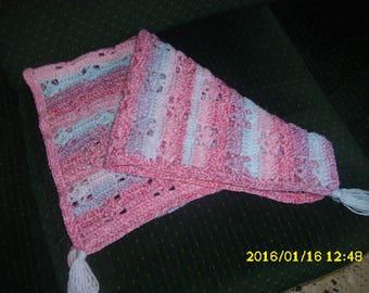 "couverture pour bébé ""pram or bassinet"" hand-made crochet"