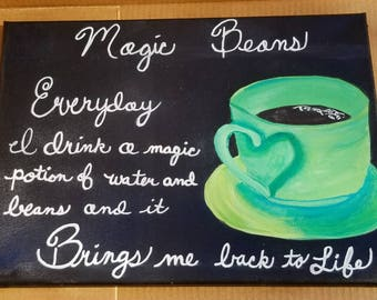 Magic Beans Coffee Painting