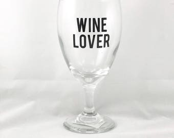 Wine Dine and Enjoy Life Wine Glass - Gifts for Wine Lovers - Wine Gifts - Wine Gift for Women - Gifts for Her - Funny Wine Glasses