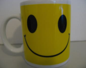 Vintage Double Sided Smiley Face Coffee Mug