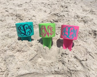 Beach Sand Spiker Drink Holder Beach Spike Cup Monogram Personalized Custom Gifts for Her Family Vacation
