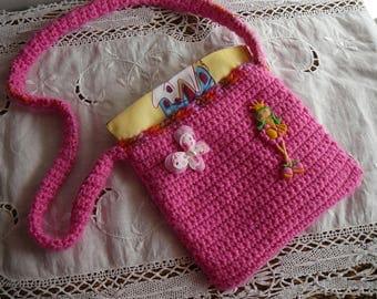 childlike girl friendly fabric lined shoulder bag