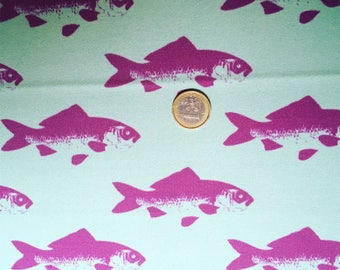 Fabric fish N1 green background