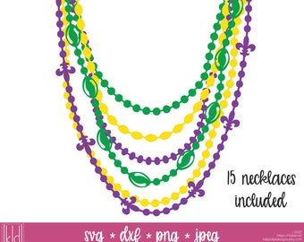 15 Mardi Grads Beads svg - Bead Necklace svg - Mardi Gras svg - Mardi Gras Shirt - Fat Tuesday svg - Beads svg