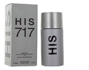 His 717 Perfume 3.3oz EDT Men Spray by Royal Fragrance Parfum  Inspired by  212