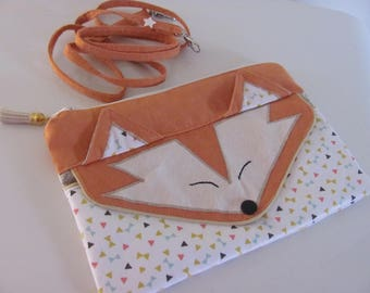 "On order: Pocket Fox ""Little Fox"" graphic in suede with bandouillière"