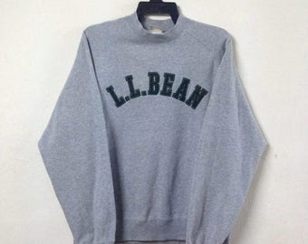 SALE 15% Vintage LL BEAN Sweatshirt Medium Size Crewneck Pullover Big Logo