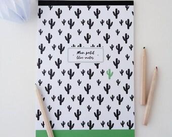 Illustrated Cactus 14x20cm Notepad