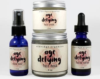 Age Defying Collection - Anti Aging Skin Care - Organic Skin Care - Skin Care Gift Set