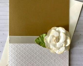 Handmade Rose Love Card