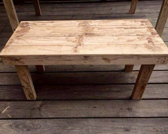 Rustic Reclaimed Pallet Wood Bench
