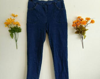 Vintage Highwaisted Stretch Blue Jeans