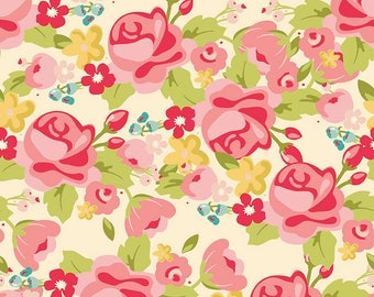 Riley Blake Gorgeous Main Cotton Quilting Fabric  cream