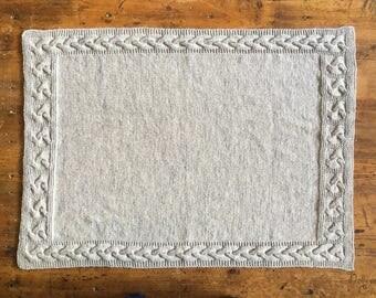 """""""Large"""" baby blanket in grey wool Pearl"""