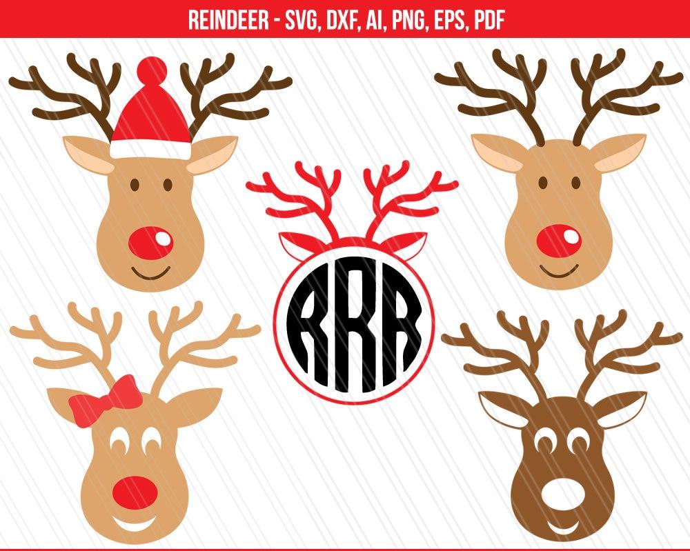 Reindeer svg Christmas svg Reindeer cut files Rudolph svg