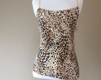 S / Jockey Animal Print Camisole Top / Small