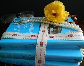 Jane Austen collection/three vintage books/Sense and Sensibility/Pride and Prejudice/Persuasion/Guild Publishing/London/1980's classic books