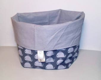 Storage basket gray Collection little whale