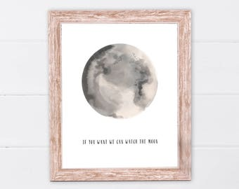 Moon Print | Moon Poster | Moon Wall Art | Full Moon Print | Moon Art Print | Full Moon Printable