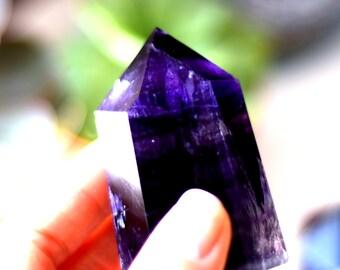 FREESHIP Fluorite Crystal Rainbow Fluorite Point, Fluorite Crystal Point, PURPLE Flourite Crystal Tower, Healing Crystals Psychic Protection