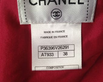 CHANEL Vintage Pink Tweed Skirt 38 size
