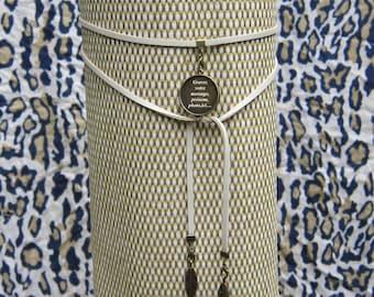 Necklace strap leatherette personalize