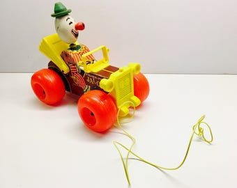 Vintage Fisher Price 'Jalopy' - 1960's Version With Pull Cord