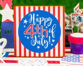 Made to Order Miniature Happy 4th of July Sign - 1:12 Dollhouse Miniature