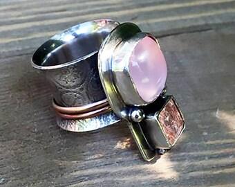 Double Rose Spinner Ring