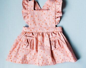 Toddler Pinafore Dress - Toddler Dress - Vintage Girls Dress- 12-18mo, 18-24mo, 2T, 3T, 4T, 5T
