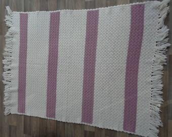 Crochet Blanket, Crochet Afghan, Granny Square Blanket, Crib Blanket, Nursery Bedspread, Baby Blanket, Made In NC