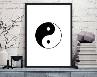 Printable art Digital Prints yin yang feng shui wall art printable art, printable prints