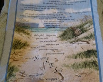 Footprints in the sand blanket
