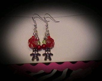 Holiday cookie earrings.