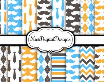 Buy 2 Get 1 Free-16 Digital Papers. Fathers Day Papers 2 (1H no 2) for Personal Use and Small Commercial Use scrapbooking