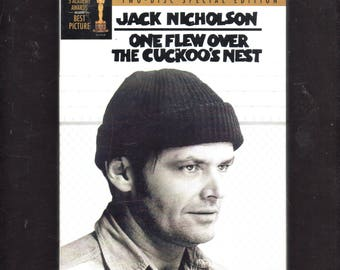 One Flew Over the Cuckoo's Nest (Two-Disc Special Edition) DVD, Jack Nicholson, Like New.