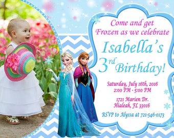 Frozen Invitation Frozen Birthday Frozen Party Frozen Invite