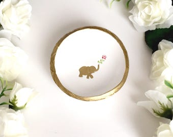 Elephant Jewelry Dish / Spirit Animal / Wisdom / Personalized Jewelry Dish / Personalized Ring Dish / Gifts for Her / Personalized / Gift