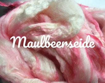 Combed Mulberry silk Hand dyed No. 199