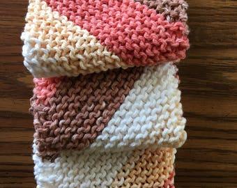 Dish Cloths-Hand Knit-100% Cottom
