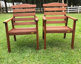 Vintage Patio Chairs , Hardwood, Samsonite TWO Chairs