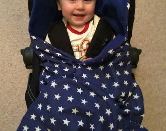Car seat cosy (blue stars)