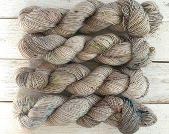 """Hand Dyed Yarn - Indie Dyed Yarn - SW Sock - """"Sidewalk Chalk"""""""