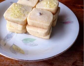 Lemon Jewel Shortbread Cookies Small Box