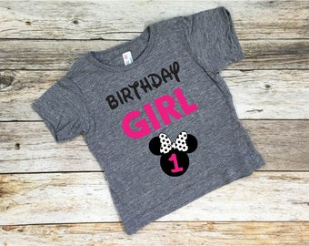Birthday Girl. Minnie Mouse. Birthday Shirt. Disney Birthday Shirt. Minnie. Disneyland. Disney birthday. Disneyland birthday.