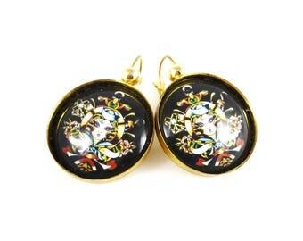Old school - tattoo pin up retro vintage earrings