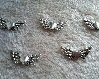 SET OF 5 NEW WING HEART