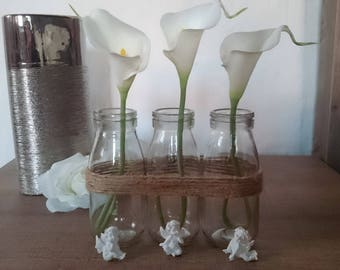 Customizable trio of bud vases