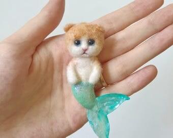 Cat mermaid brooches, mermaid brooch, cat pins, cat mermaid, cat lover, mermaid necklace, gift for her, mermaid pins, cat pins, mermaid pin